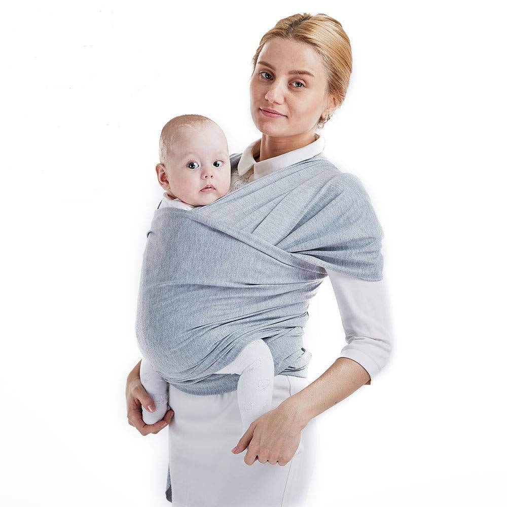 Mamacadabra Baby Wrap Carrier Adjustable Breastfeeding Cover Cotton Sling Baby Carrier for Infants up to 35 lbs//16kg Soft and Comfortable Pink