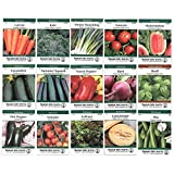 Heirloom Vegetable Garden Seed Collection - Assortment of 15 Non-GMO, Easy to Grow