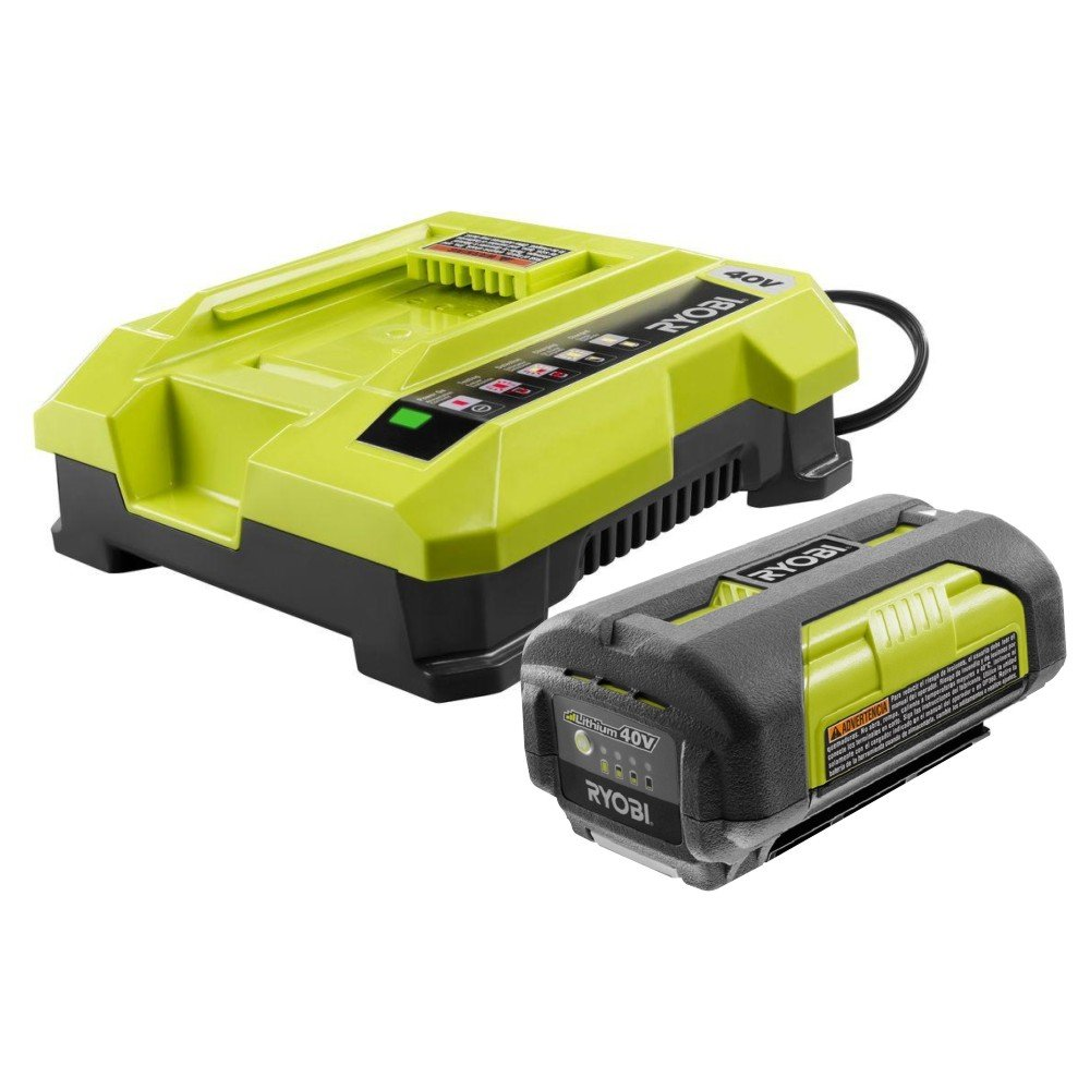 Ryobi OP4026 40-Volt Lithium-ion Battery 130186012 and OP401 40 Volt Lithium-ion Charger