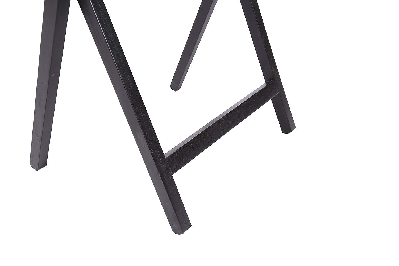 PJ Wood Vassoio pieghevole tv /& spuntino tavolo finitura espresso albero della gomma