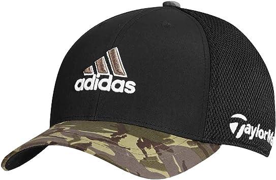 adidas Tour malla camuflaje Fitted Golf gorro, Negro/Camuflado ...