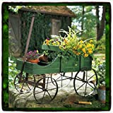 Cheap Plant Stands Patio Wagon Showcase Flowers Wood Pot Stand Cart Planter Garden Metal Garden Pot Planter Outdoor Yard Holder Display Decor Green Indoor Iron Vintage Wrought Metal Long Wooden Unique New Guarantee It Only Comes Along with Our Company's Ebook