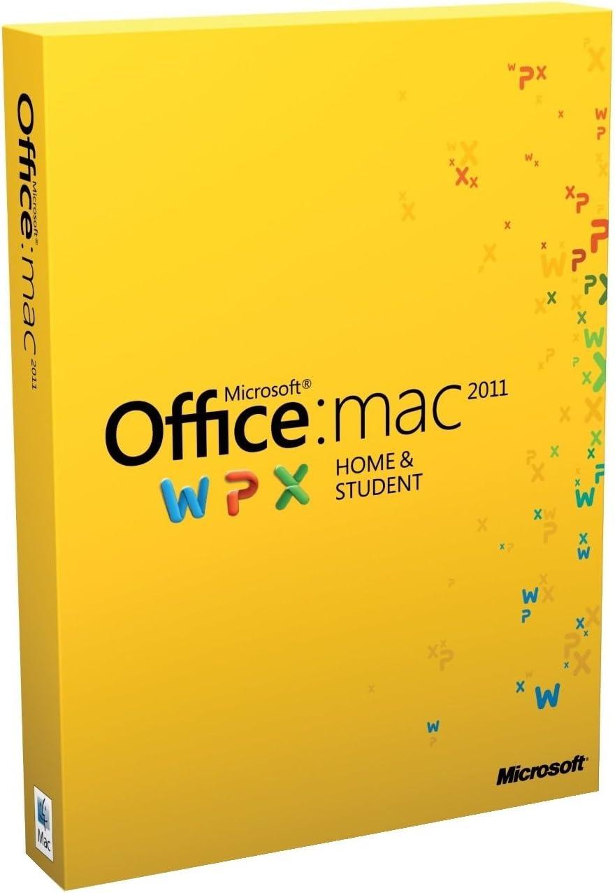 Office Mac Home & Student 2011 - 1MAC/1User (Disc Version)