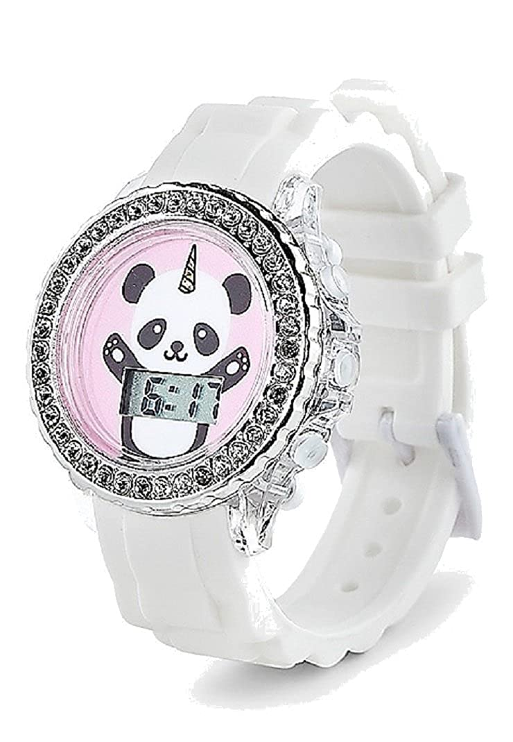 Amazon.com: Justice for Girls Pandacorn Bling Light Up LED Watch: Jewelry