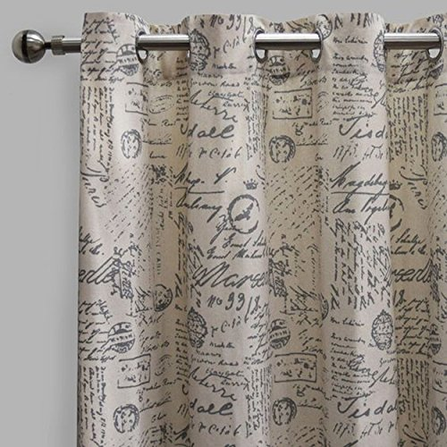 Rodeo Home Script Writing 54×96 Script Set Of 2 Curtains