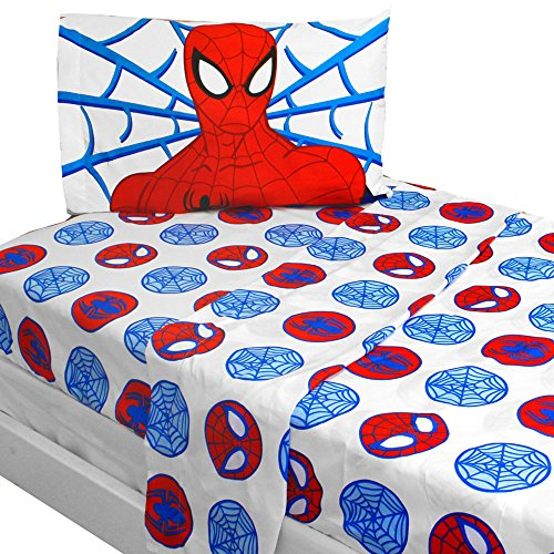 3pc Marvel Comics Spiderman Twin Bed Sheet Set Bold Spider-Man Bedding Accessories