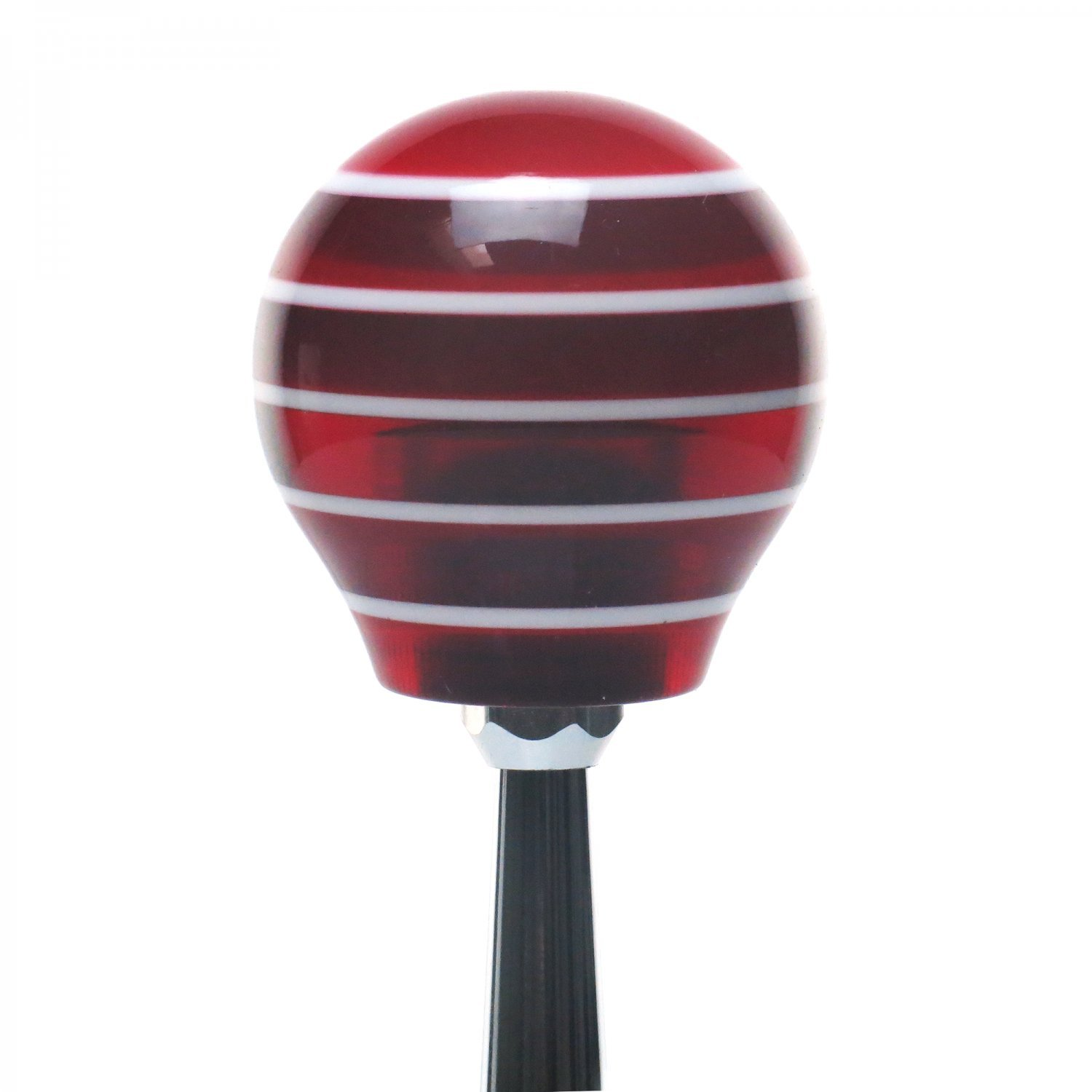 White Gas Mask American Shifter 116639 Red Stripe Shift Knob with M16 x 1.5 Insert