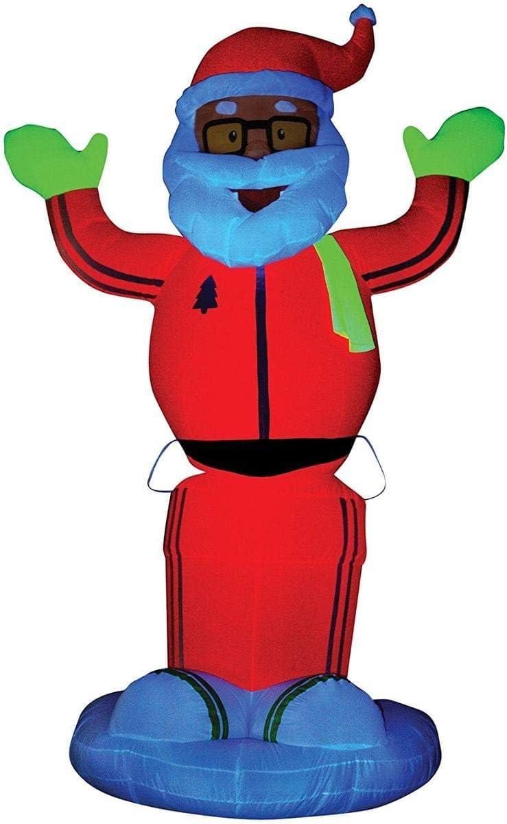 Gemmy Airblown Neon Animated Santa D