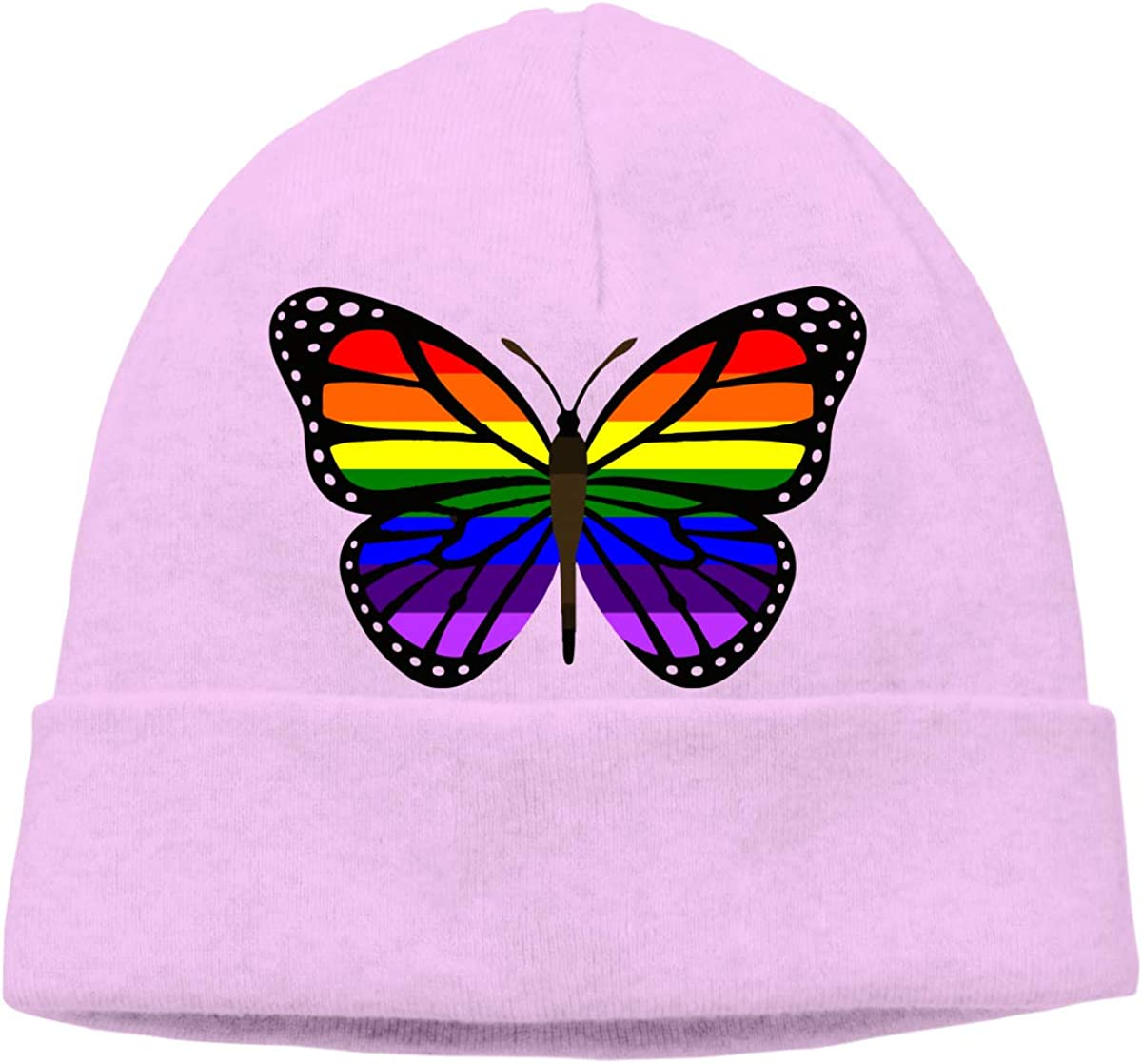 BF5Y3z/&MA ButterFlag LGBT Flag Beanie Hat for Men Women,Soft Knit Cap Skiing Cap