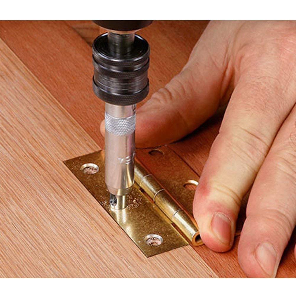 cerniera punte per trapano hardware Set porta dellarmadio Kit di utensili per foratura pilota 4 pezzi Punta esagonale HSS con codolo cilindrico 11//649//64 7//645//64