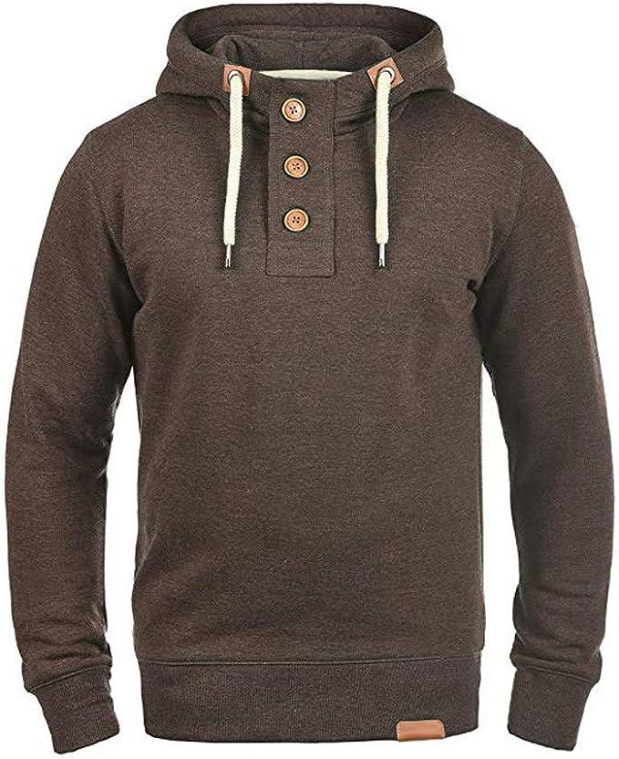 Jotebriyo Mens Casual Thick Fleece Lined Full Zip Hooded Sweatshirt