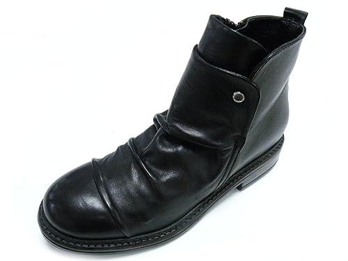 Andrea Morelli Botines Bajo Cremallera Mujer Negro Negro Size: 36: Amazon.es: Zapatos y complementos