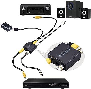 Cables de Audio NK-Q7 Tendak Optical SPDIF Toslink a coaxial/coaxial a óptico SPDIF Toslink bidireccional Swtich Digital de 2 vías convertidor de Audio Óptico: Amazon.es: Electrónica