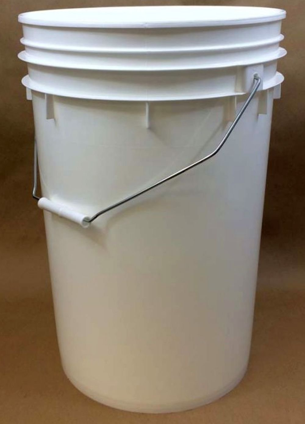 6 Gallon Premium Grade White Plastic Bucket 3 Pack