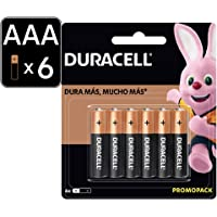 Duracell Copper negro Pila Alcalina AAA con 4 Piezas 2 pilas gratis, 1.0 count