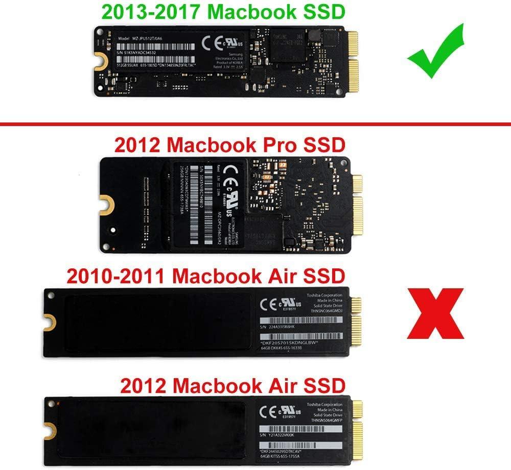 QNINE USB 3.0 PCIe SSD Enclosure for 2013 2014 2015 2016 2017 ...