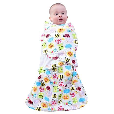 Kuuboo - Saco de dormir para bebé, 100% algodón, estampado de bebé y