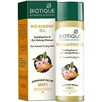 Biotique huile d'amande apaisante visage et les yeux Maquillage Démaquillant pour peau normale à sèche