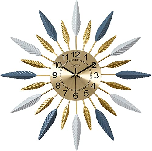 SHISEDECO Metal Sunburst Wall Clock