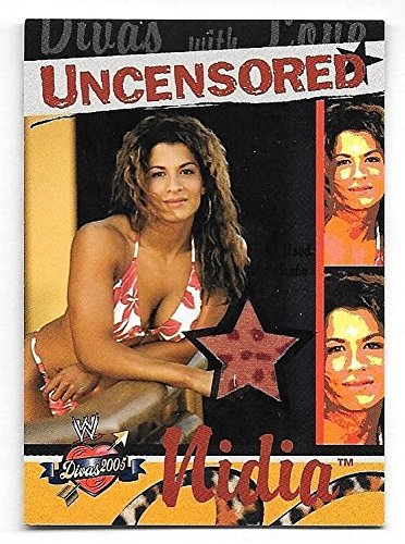 2004 Fleer WWE Divine Divas 2005 Divas Uncensored #NI Nidia Wardrobe Relic Card