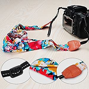 YIER Chevron Scarf Super Comfortable Camera Strap and a Bonus Ivation Spot
