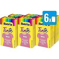 Iberia - Tinte Rosa para ropa, 40°C, pack