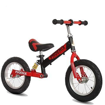 Bicicleta sin pedales Bici 12 Sport Balance Bike, Black Steel, Bicicletas de Entrenamiento portátiles