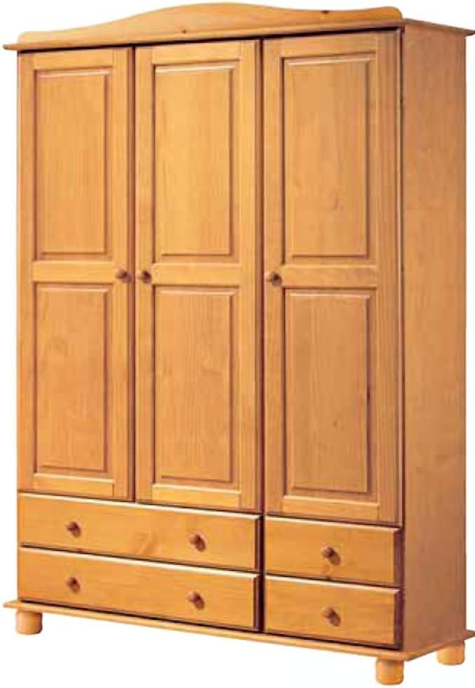 La Factoría Muebles - Armario 3 puertas y 4 cajones en , talla 130 x 197 x 52cm