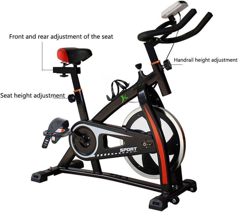 Bicicleta Spinning Profesional,Indoor Cycling Electromagnético Aplicación Inteligente,Resistencia Variable Bicicleta Estatica Con Pedal Antideslizante Capacidad Máxima de Carga 160KG,Black: Amazon.es: Deportes y aire libre