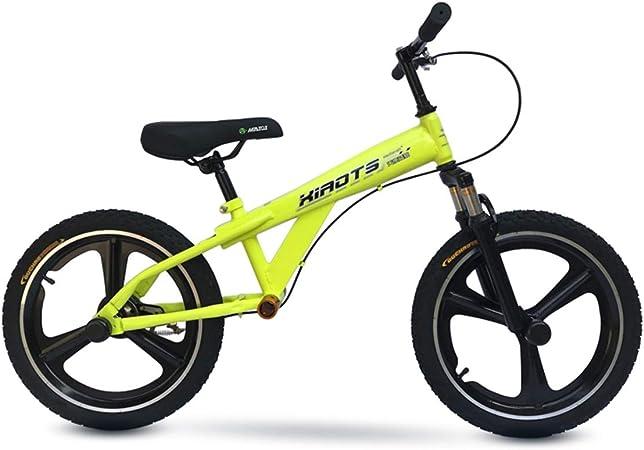 Bicicleta sin pedales Bici Bicicleta de Equilibrio con Freno de Mano para Regalo de cumpleaños de Navidad - Bicicleta de Entrenamiento sin Pedal para jóvenes Adultos con Ruedas Grandes de 18 Pulgadas: