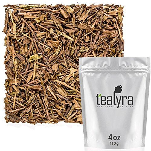 Tealyra - Hojicha Roasted Green Tea - Japanese Loose Leaf Tea - High Antioxidants - Low Caffeine - 110g (4-ounce) ()