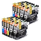 Perfectink 10 Pack LC203 XL LC203XL Ink Cartridges Compatible with Brother MFC J4320DW J4420DW J4620DW J5520DW J5620DW J5720DW J460DW J480DW J485DW J680DW J880DW J885DW Printer (4B+2C+2M+2Y)