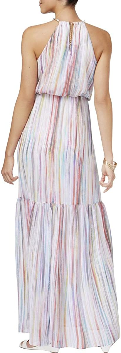Thalia Sodi Striped Blouson Maxi Dress