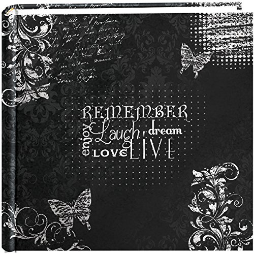 Pioneer Photo Albums 200-Pocket Chalkboard Printed 'Remember' Theme Photo Album for 4 by 6-Inch Prints