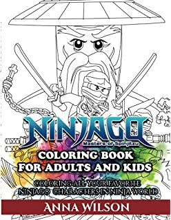 Ninjago Masters Of Spinjitzu Coloring Book For Adults Kids All Your Favorite