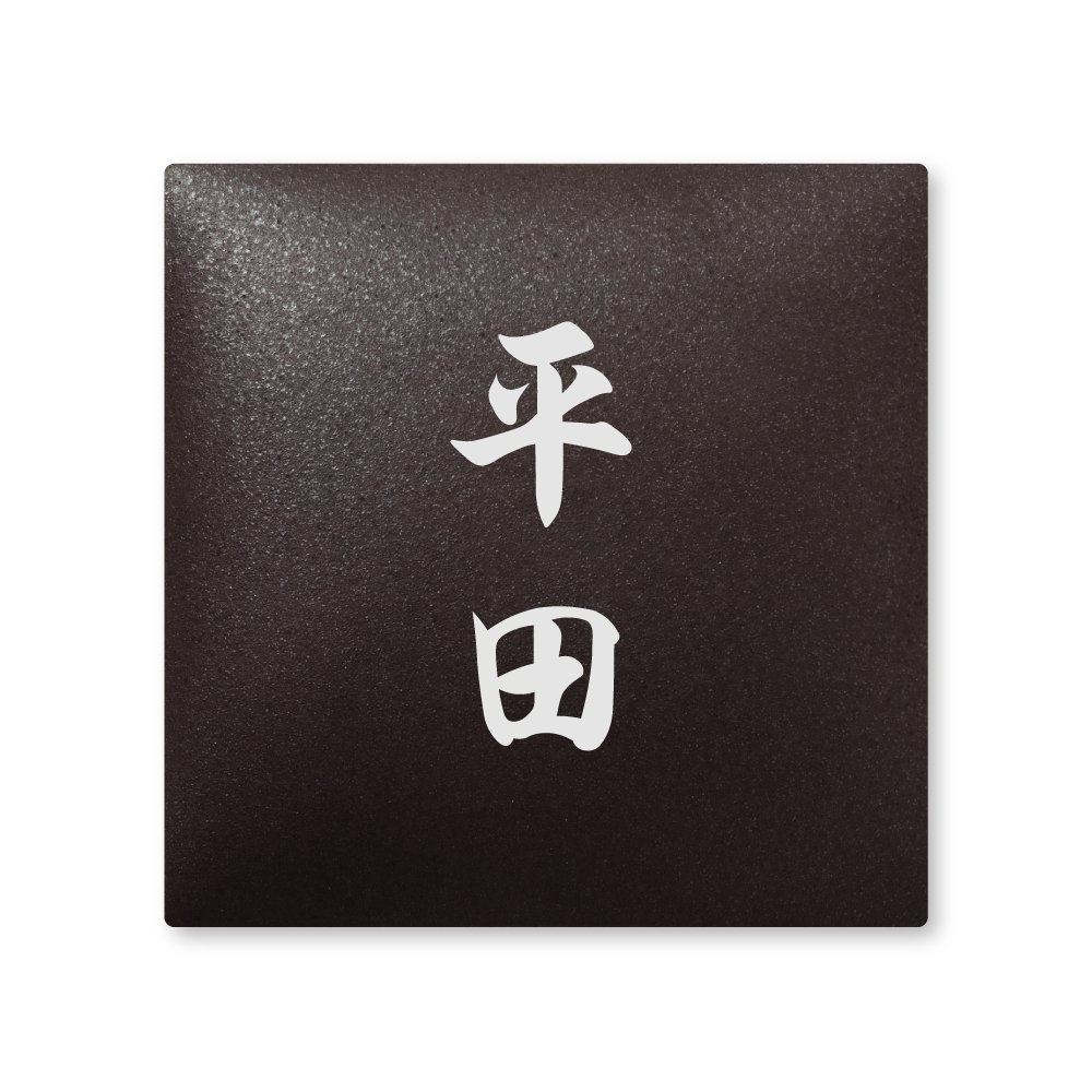 丸三タカギ 彫り込み済表札 【 平田 】 完成品 アークタイル AR-2-2-4-平田   B00RFEW782