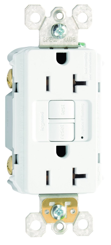 Legrand - Pass & Seymour 2097W TradeMaster 20 Amp 125V AC GFCI Duplex Receptacle, White