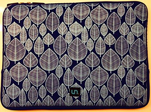Uncommon LLC Little Leaves Blue Neoprene Sleeve Cover for 15-Inch MacBook Pro (S0049-C)