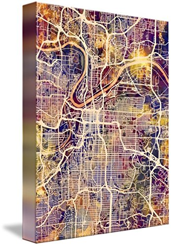 Wall Art Print  Kansas City Missouri City Map