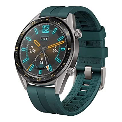 f73773ec8 Amazon.com: SUNG-LL Huawei Watch GT 2019 (46mm) BT Version, Water Proof,  Titanium Grey Stainless Steel - Fluoroelastomer Band Active Dark Green:  Watches