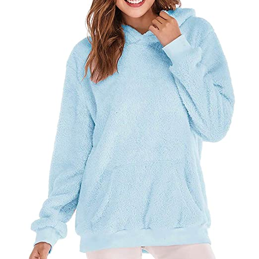 Womens Velvet Tops,Kulywon Clearance Sale!Women Hooded Sweatshirt Coat Winter Warm Wool Zipper Pockets Cotton Coat Outwear at Amazon Womens Clothing ...