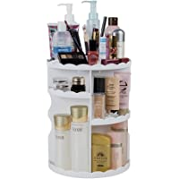 DreamGenius Makeup Organizer 360 Degree Rotating Adjustable Multi Function Cosmetic Storage