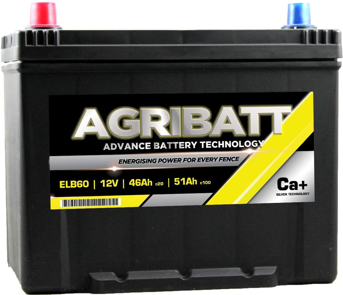 AgriBatt ELB60 Heavy Duty Electric Fence Battery 12V 51Ah c100 AgriBatt-ELB60