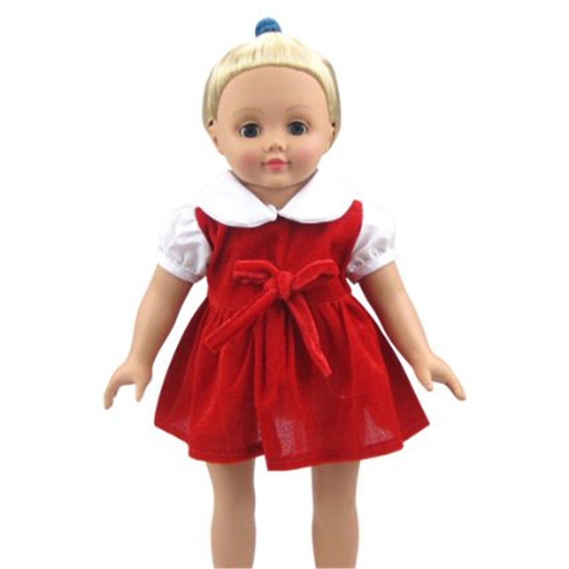 e7e8d051d8ff Amazon.com  JELEUON Cute Baby Beautiful Red Velvet Doll Dresses ...