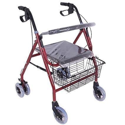 Andador Para Ancianos De 4 Ruedas Ndador De Aluminio Con Frenos Por Presión | 4Ruedas Delanteras