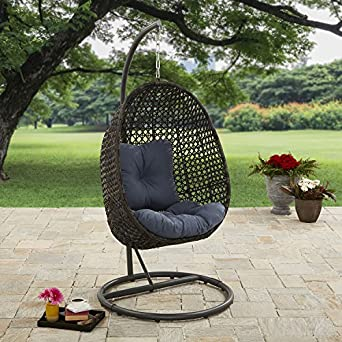Brilliant Better Homes And Gardens Lantis Outdoor Wicker Hanging Chair With Stand Andrewgaddart Wooden Chair Designs For Living Room Andrewgaddartcom