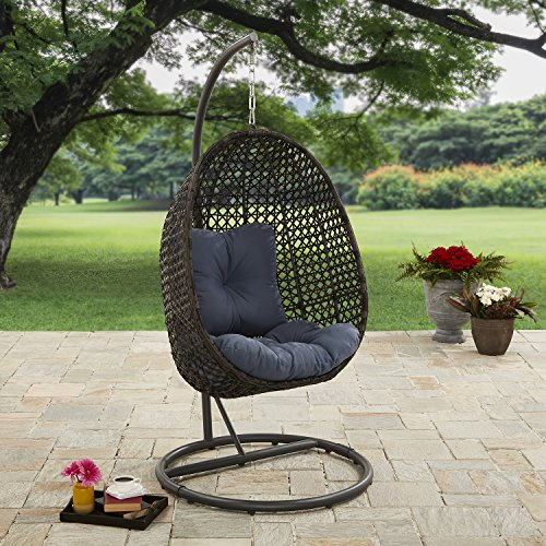 Better Homes and Gardens Lantis Outdoor Wicker Hanging Chair with Stand