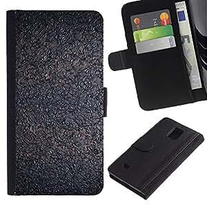 Paccase / Billetera de Cuero Caso del tirón Titular de la tarjeta Carcasa Funda para - Interesting Cork Grey Ash - Samsung Galaxy Note 4 SM-N910