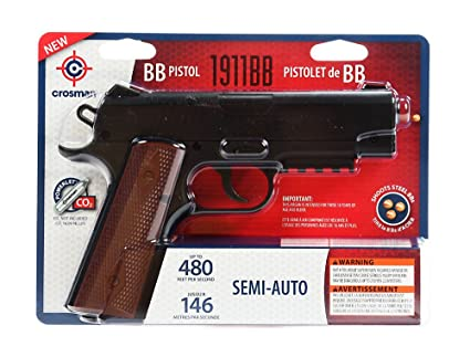 Crosman 40001 1911 Semi-Auto  177 BB CO2 Air Pistol