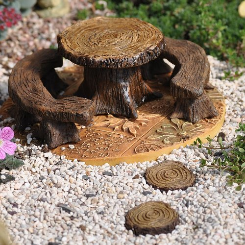 Miniature Fairy Garden Stepping Stones, Tree Stump, Set of 4, Baby & Kids Zone